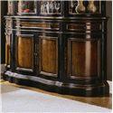 Hooker Furniture Preston Ridge Shaped Buffet with Four Doors & Three Drawers