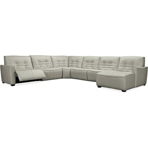 6-Piece Power Sectional with RAF Chaise