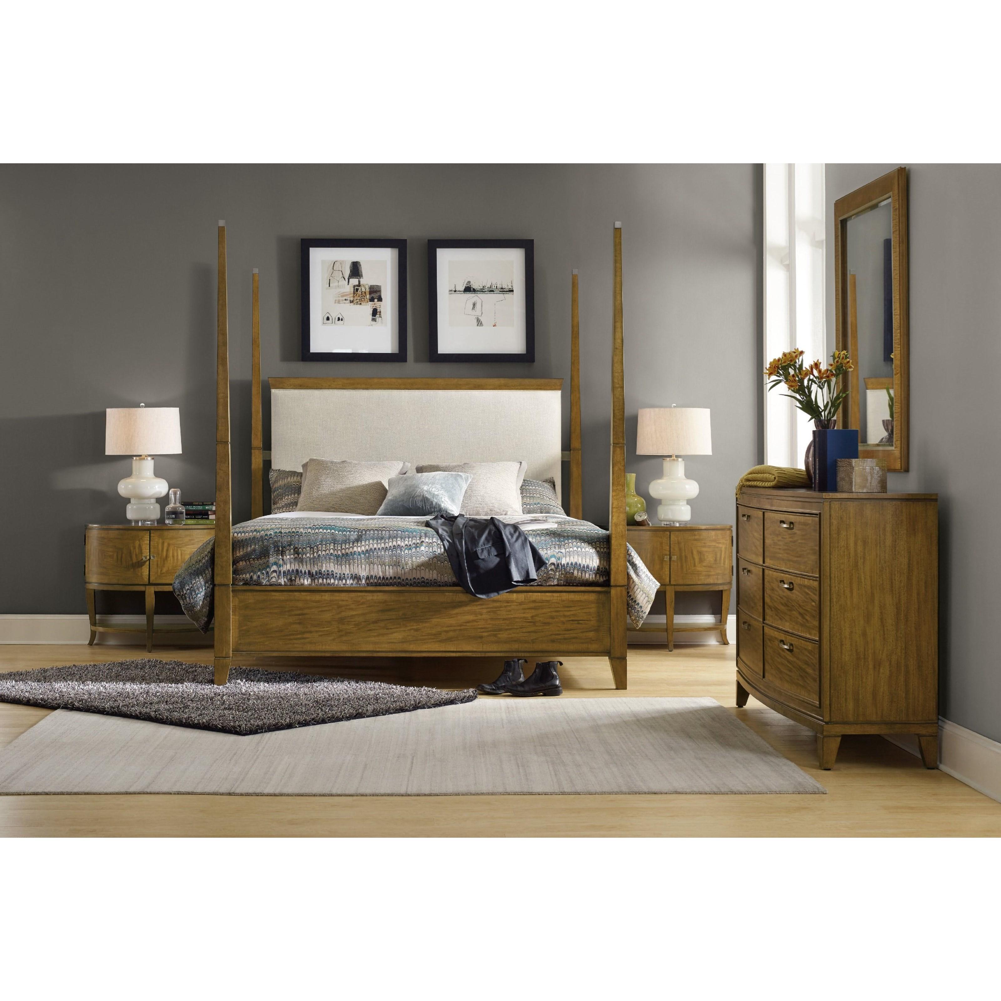 Hooker Furniture Retropolitan Queen Bedroom Group - Item Number: 5510 Q Bedroom Group 2