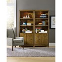 Hooker Furniture Retropolitan Bunching Bookcase with LED Light