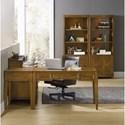 Hooker Furniture Retropolitan Leg Desk with 3 Dovetail Drawers