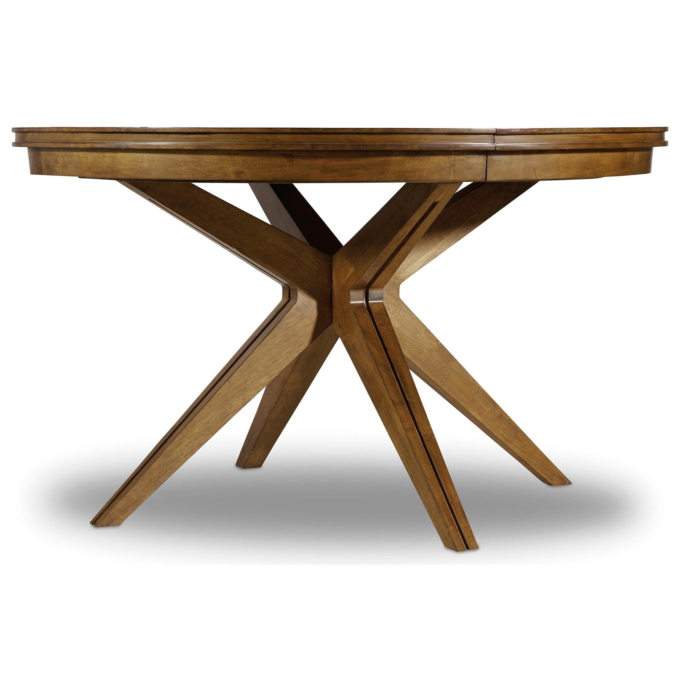 """Hooker Furniture Retropolitan 52"""" Round Dining Table with One 18"""" Leaf - Item Number: 5510-75201-MWD"""