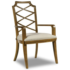 Hooker Furniture Retropolitan Wood Back Arm Chair