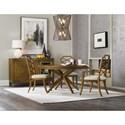Hooker Furniture Retropolitan Wood Back Arm Chair with Unique Design