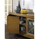 Hooker Furniture Retropolitan Transitional Server with Wine Glass Storage