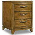 Hooker Furniture Retropolitan Chairside Table with 3 Dovetail Drawers