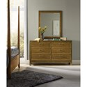 Hooker Furniture Retropolitan Landscape Mirror with Wood Frame