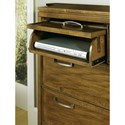 Hooker Furniture Retropolitan Bureau with 5 Dovetail Drawers