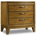 Hooker Furniture Retropolitan Three-Drawer Nightstand with Power Bar