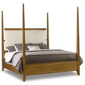 Hooker Furniture Retropolitan California King Poster Bed