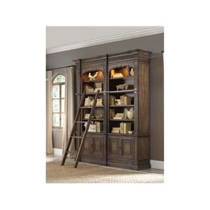 Hooker Furniture Hartsdale Hartsdale 4-Piece Library Wall