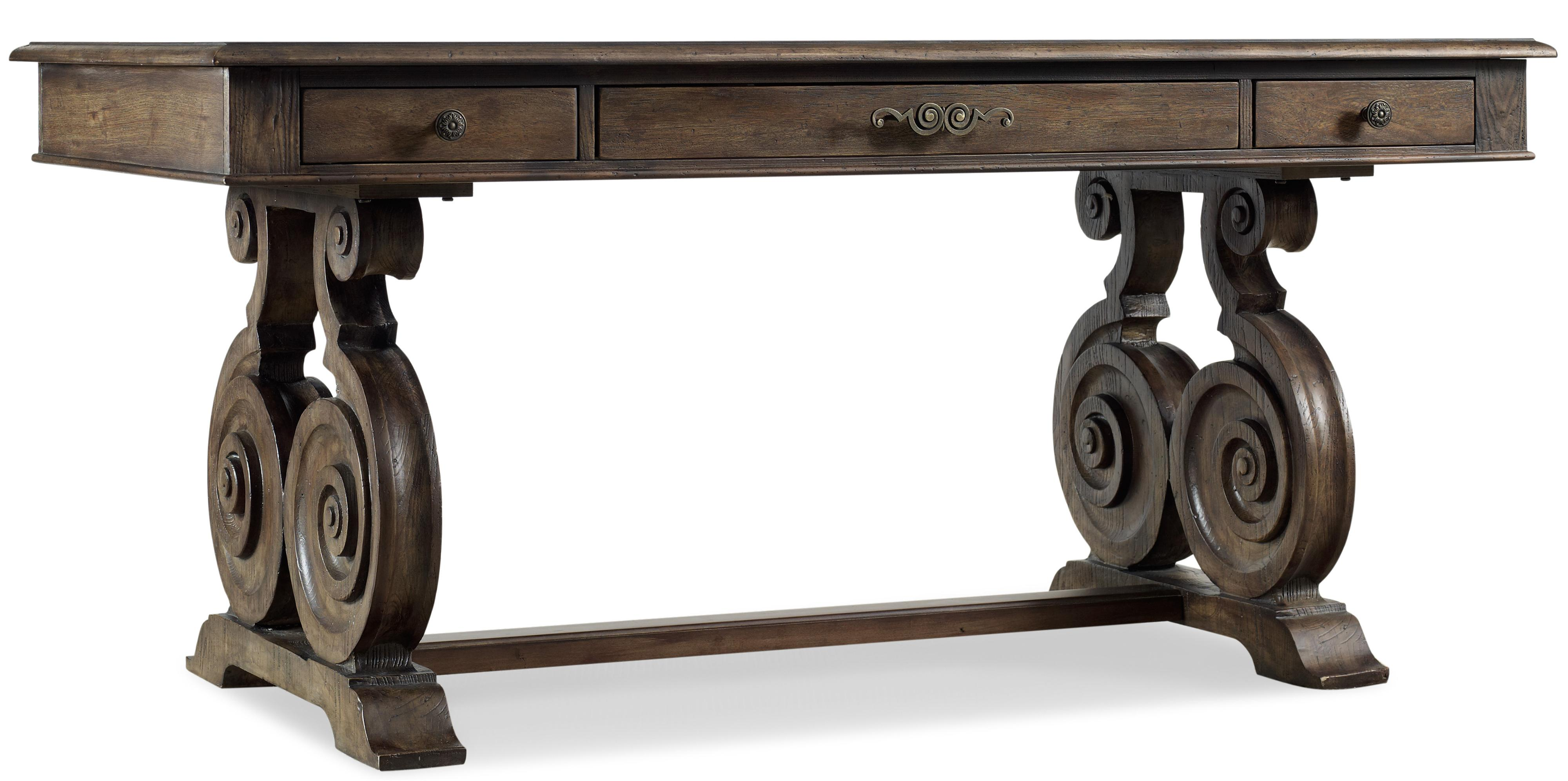 Regency Hartsdale Accent Writing Desk with Elaborate Scrolled Base ...