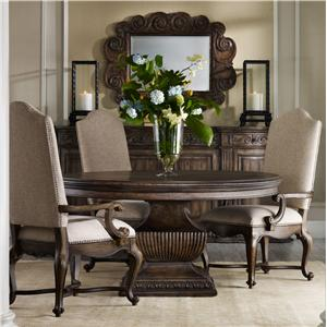 "Hamilton Home Rhapsody 60"" Round Table and Upholstered Chair Set"