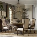 "Hooker Furniture Rhapsody 72"" Round Table and Insignia Dining Chairs - Item Number: 5070-75213+2x75400+4x75410"