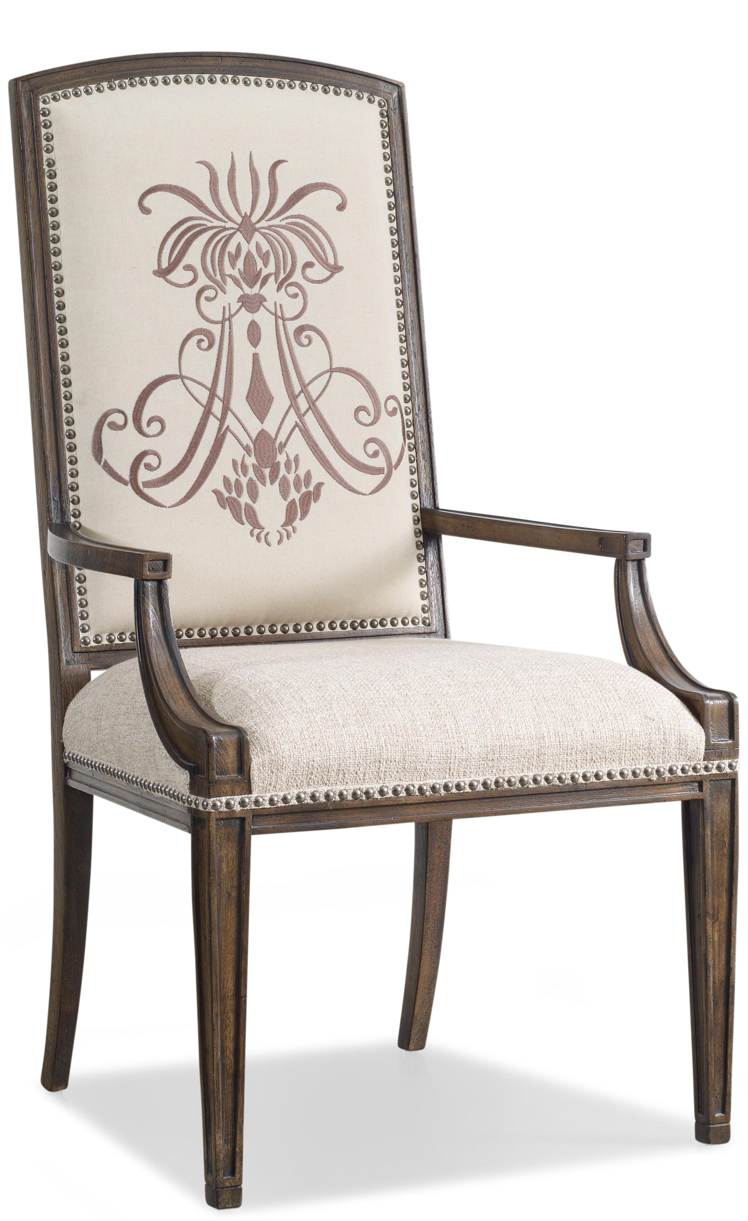 Hooker Furniture Rhapsody Insignia Arm Chair - Item Number: 5070-75400