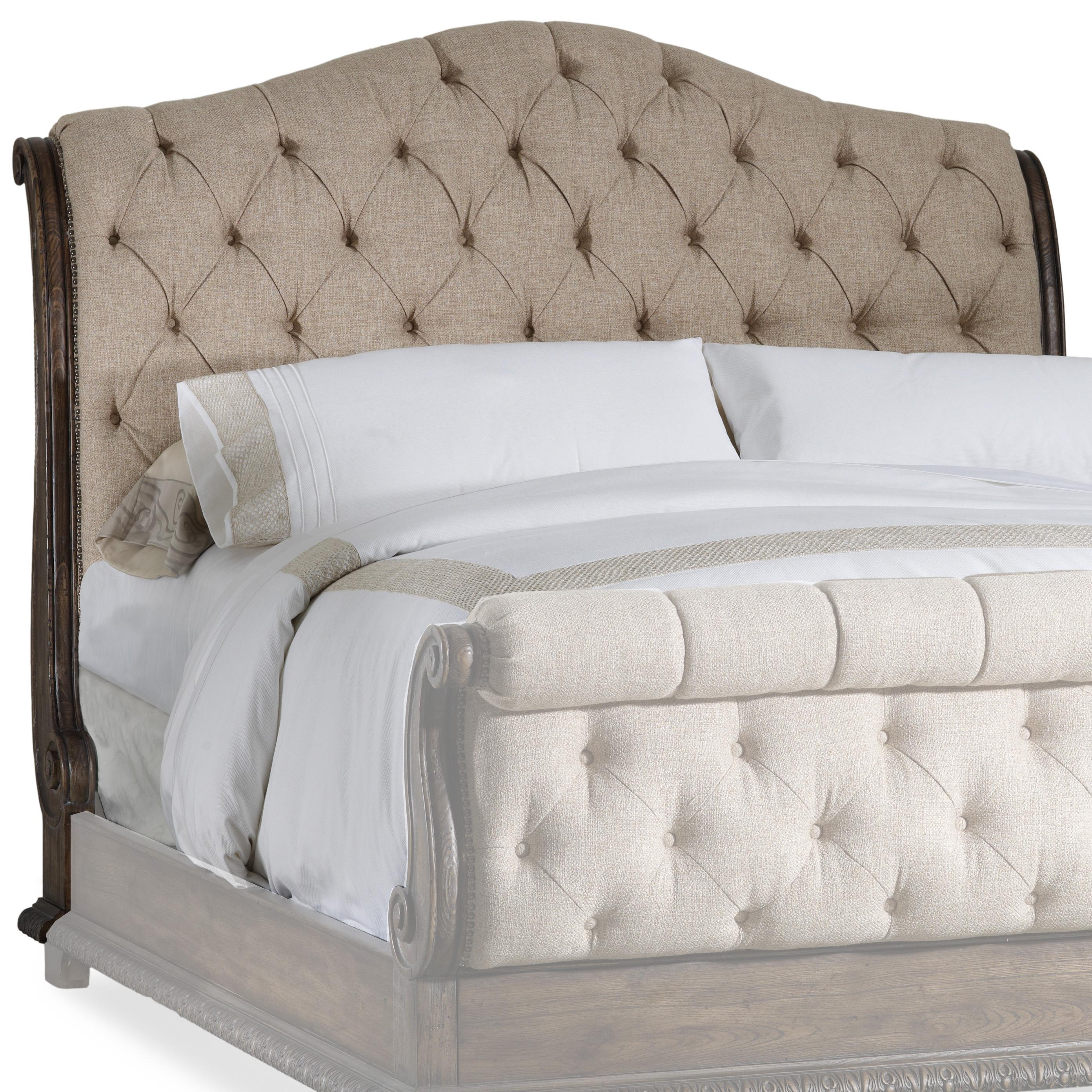 pulaski architecture headboard button panel tufted with mirabella king size wings