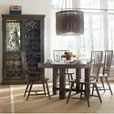 Hooker Furniture American Life - Roslyn County Dining Room Group - Item Number: 1618 DKW Dining Room Group 1