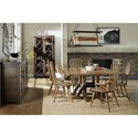 Hooker Furniture American Life - Roslyn County Formal Dining Room Group - Item Number: 1618 MWD Dining Room Group 1