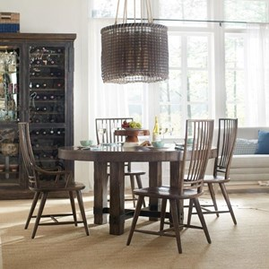 Hooker Furniture American Life - Roslyn County Round Dining Table and Chair Set