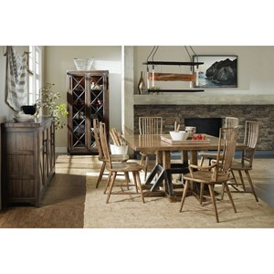 Trestle Dining Table and Chair Set