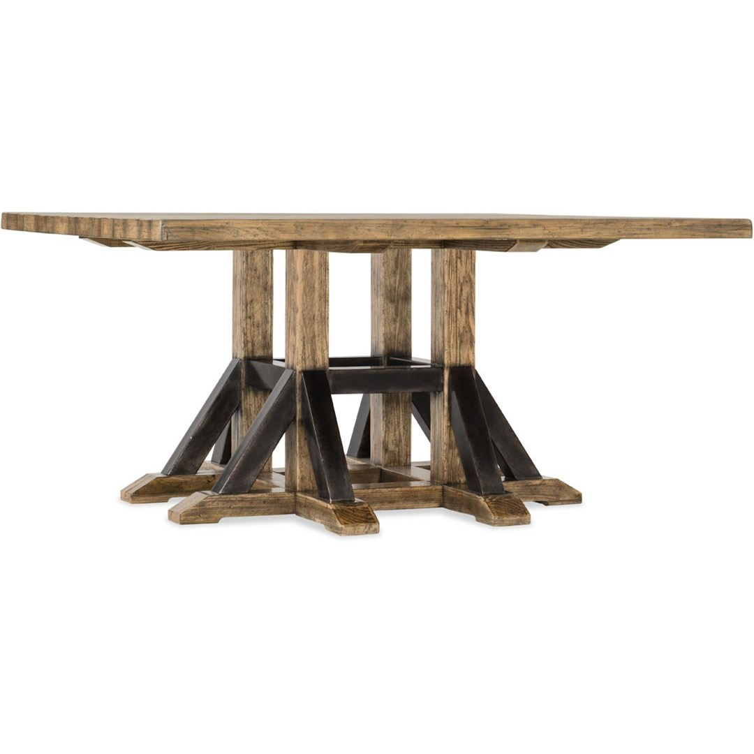 Adjustable Height Square Dining Table