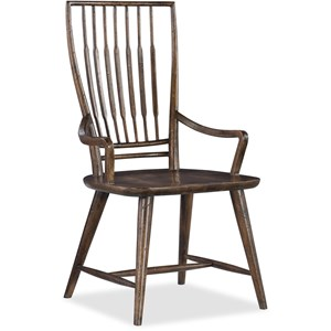 Hooker Furniture American Life - Roslyn County Spindle Back Dining Arm Chair