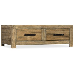 Hooker Furniture American Life - Roslyn County Rectangular Storage Cocktail Table