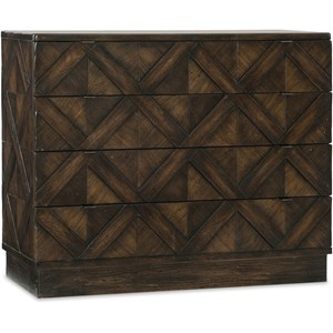 Hooker Furniture American Life - Roslyn County 4 Drawer Bachelors Chest