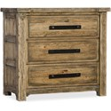 Hooker Furniture American Life - Roslyn County Three-Drawer Nightstand - Item Number: 1618-90116-MWD
