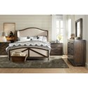 Hooker Furniture American Life - Roslyn County King Deconstructed Uph Panel Bed