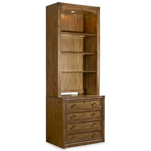Hooker Furniture Saint Armand File Cabinet and Open Bookcase