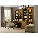 Hooker Furniture Saint Armand File Cabinet and Open Bookcase with Touch Lighting