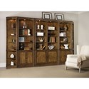 Hooker Furniture Saint Armand Bookcase Wall Unit - Item Number: 5600-70448+2x70446+2x70450