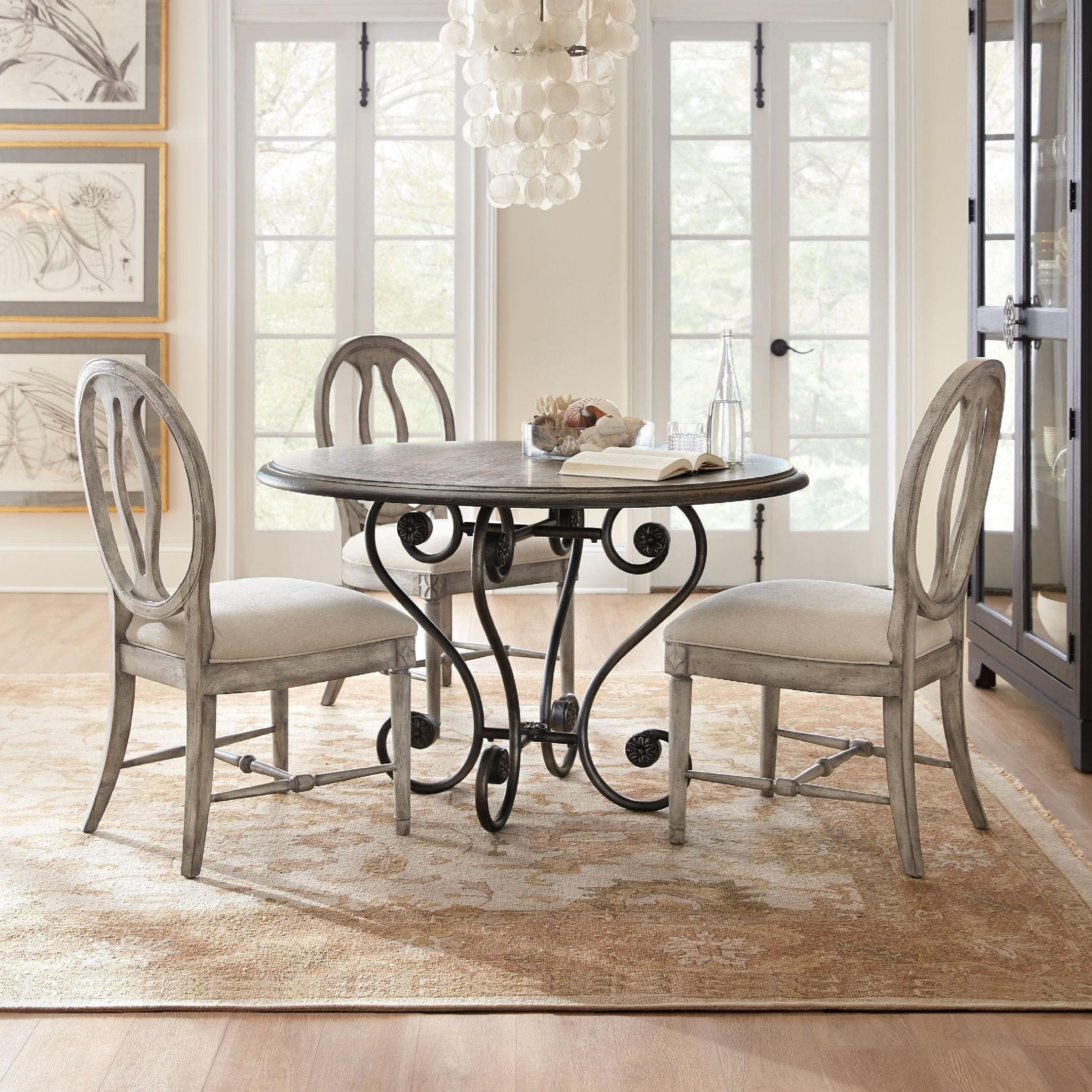 Sanctuary 5 Piece Table and Chair Set by Hooker Furniture at Furniture Barn