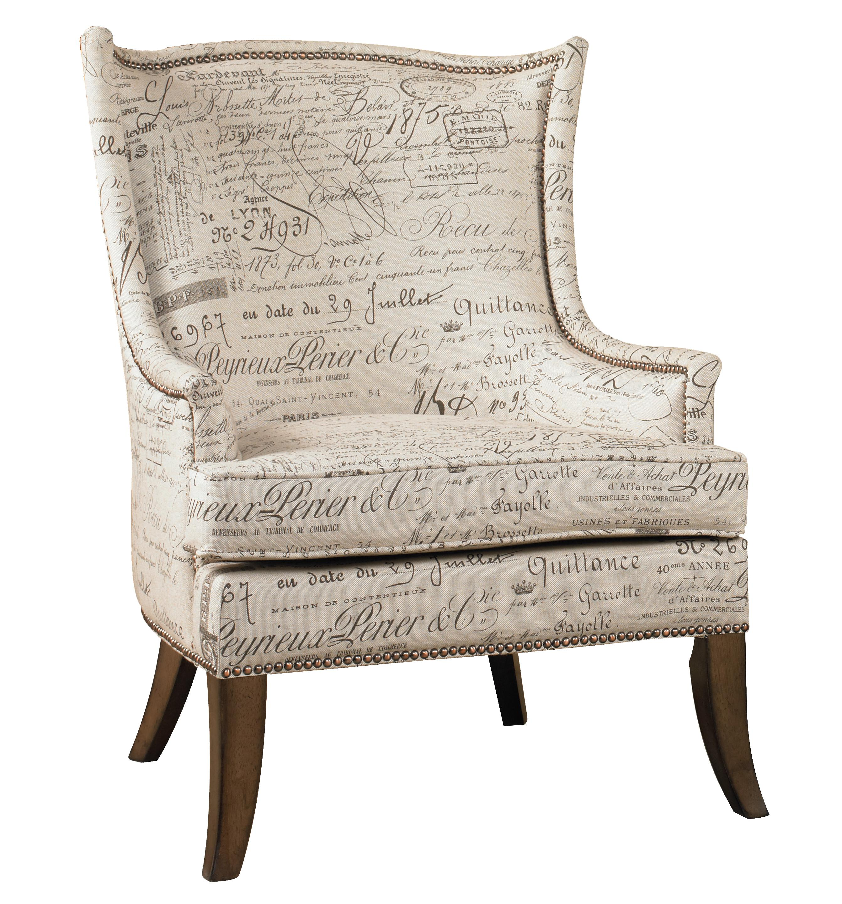 Hooker Furniture Sanctuary Paris Accent Chair with Exposed Wood