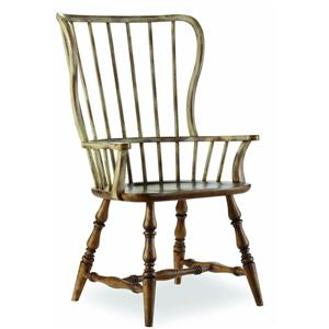 Hooker Furniture Sanctuary Spindle Back Arm Chair