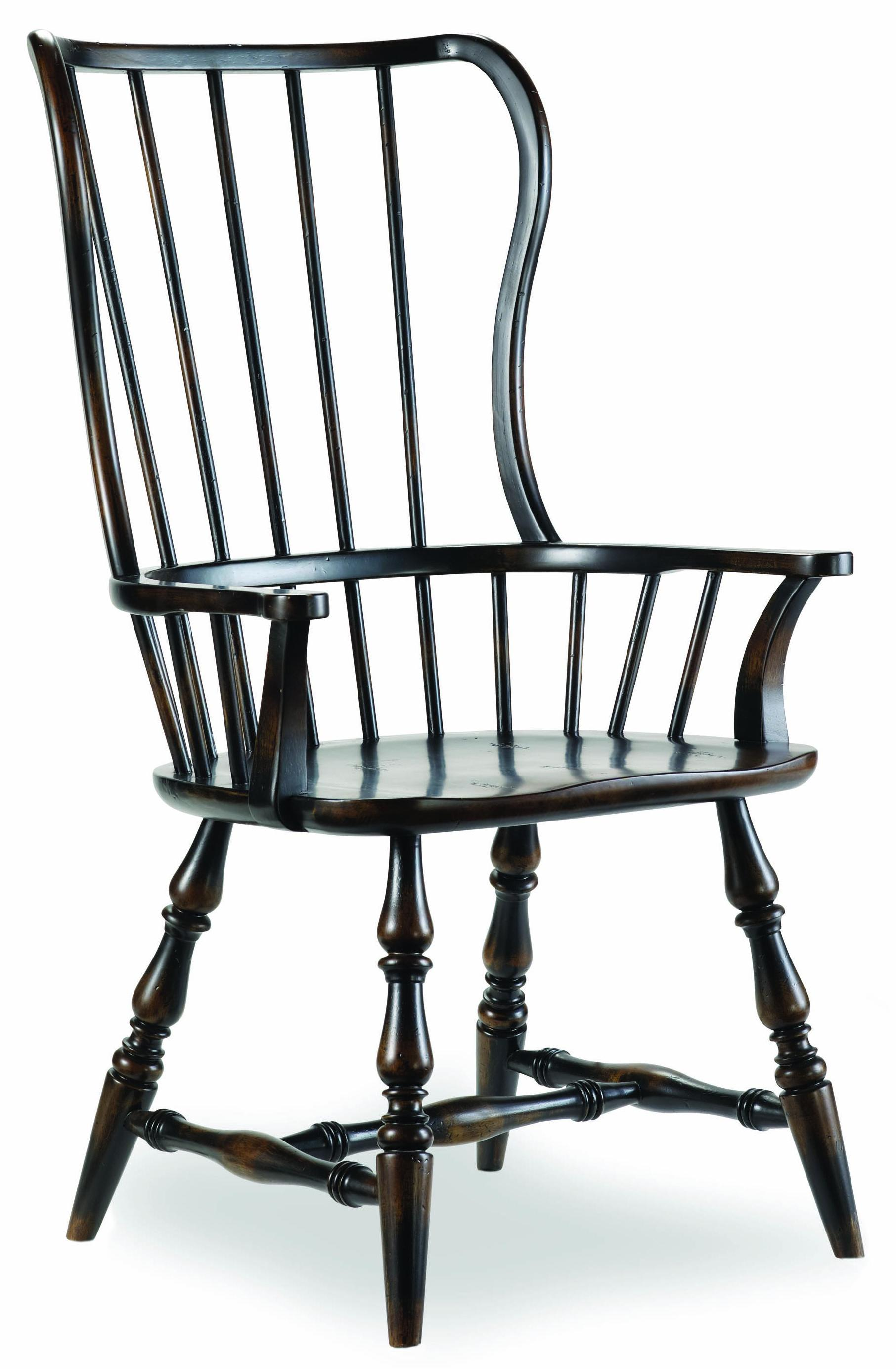 Hooker Furniture Sanctuary Spindle Back Arm Chair - Item Number: 3005-75300