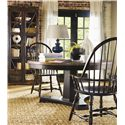 Hooker Furniture Sanctuary Windsor Arm Chair - Shown with Dining Table