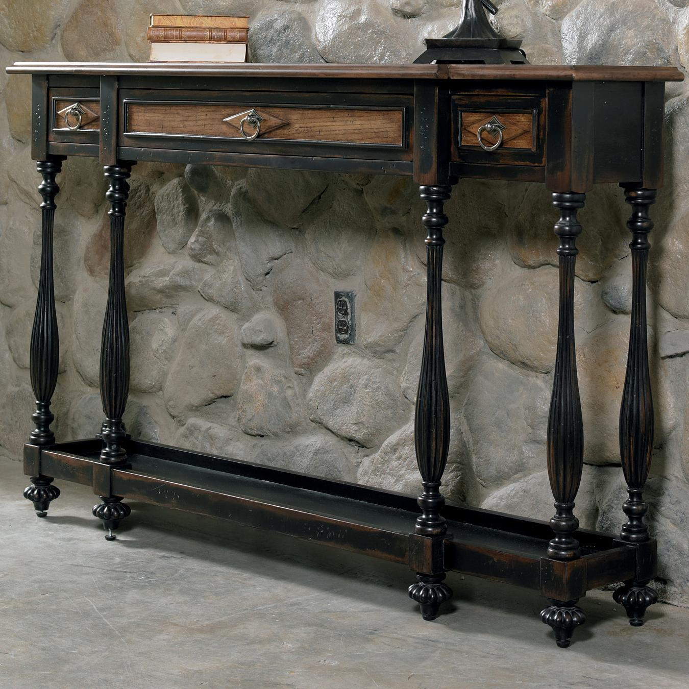 Hooker Furniture Sanctuary Three-Drawer Console - Item Number: 3005-85004