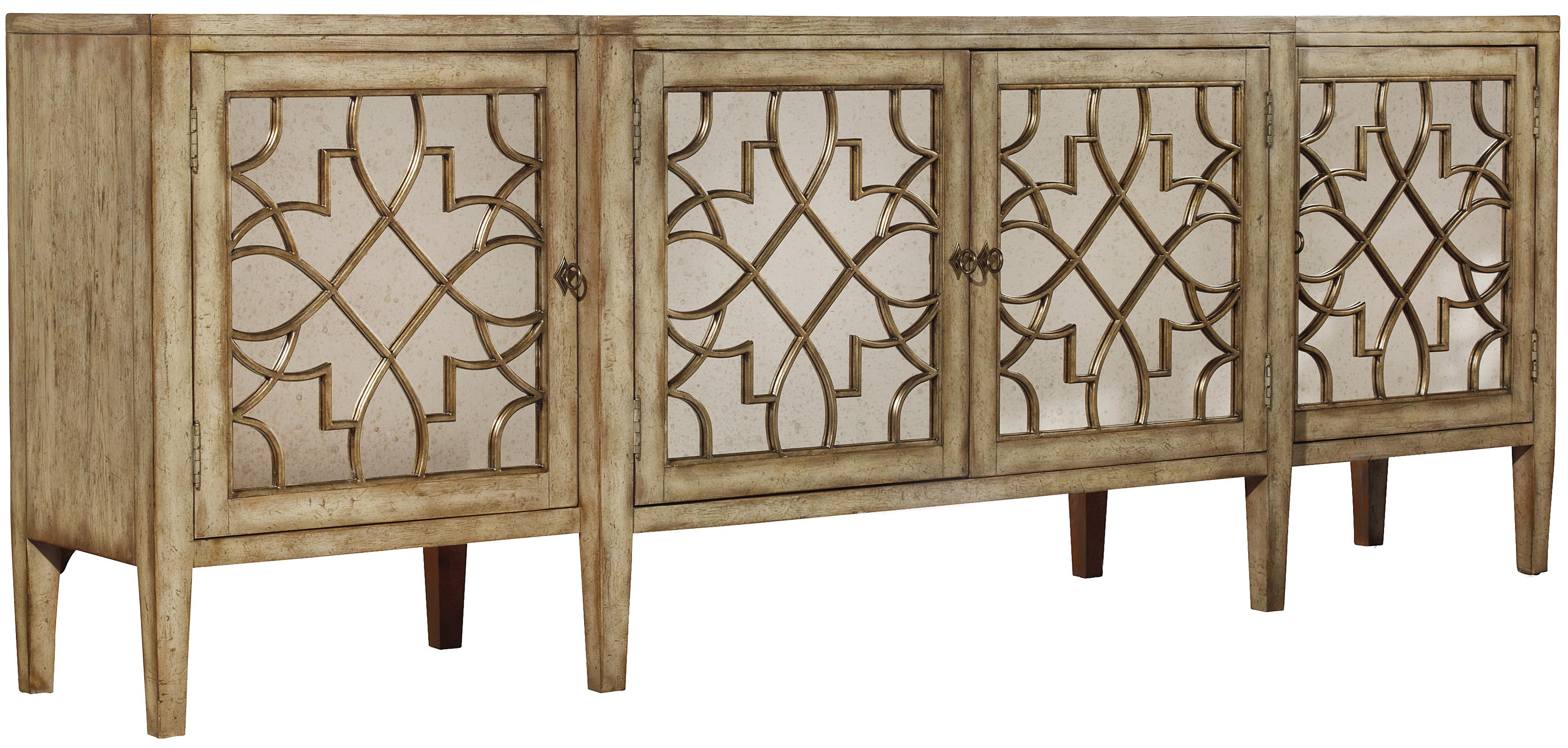 Hooker Furniture Sanctuary Four-Door Mirrored Console - Item Number: 3013-85001
