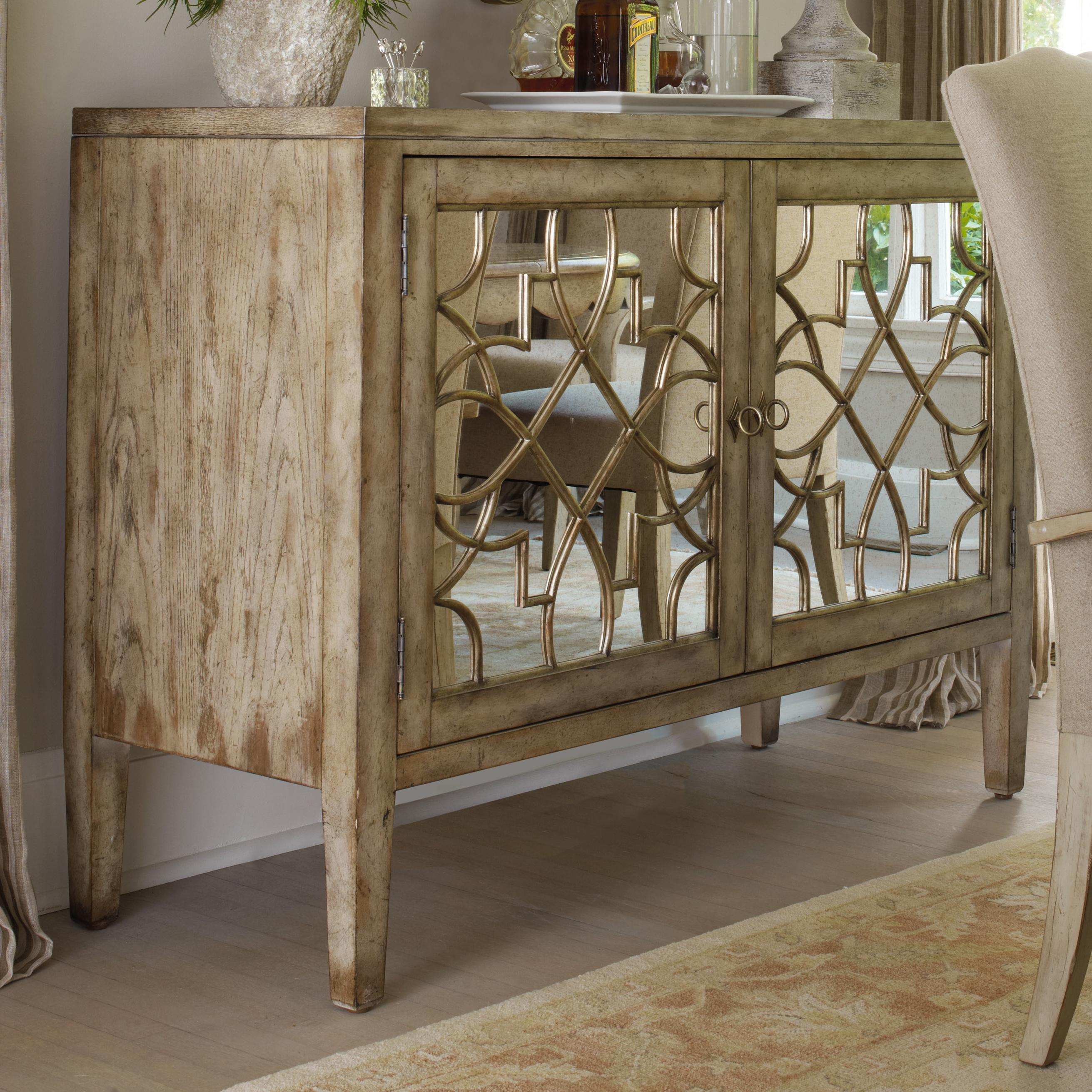 Sanctuary Two Door Mirrored Console By Hooker Furniture At Dunk Bright Furniture