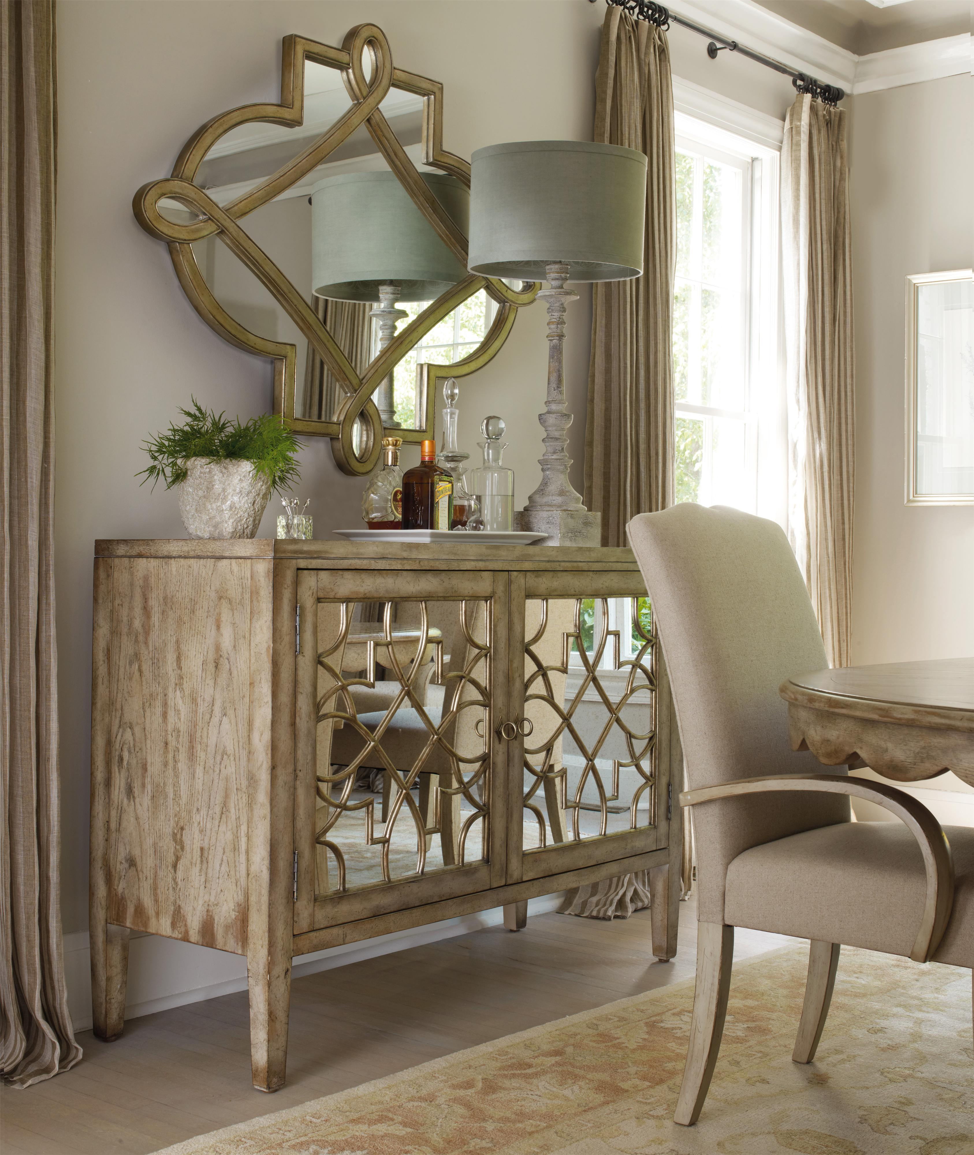 Dining Room Consoles: Hooker Furniture Sanctuary Two Door Mirrored Console