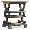Hooker Furniture Sanctuary Rectangle Accent Table with 3 Shelves