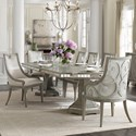 Hooker Furniture Sanctuary 7-Piece Dining Set - Item Number: 5603-75200-LTBR+2x75400-LTBR+4x7541