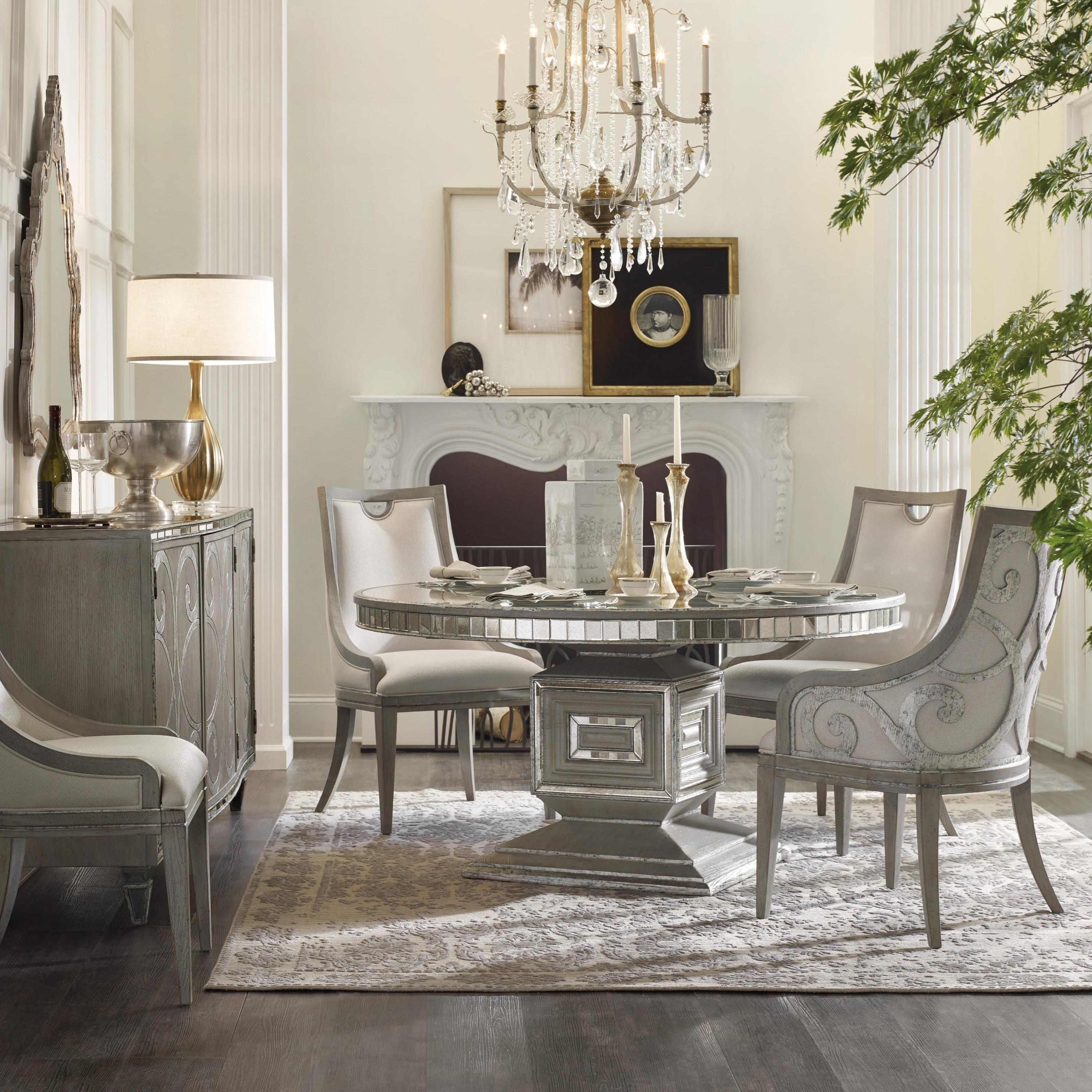 Hooker Furniture Sanctuary Transitional 5-Piece Dining Set