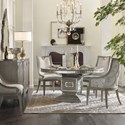 Hooker Furniture Sanctuary 5-Piece Dining Set - Item Number: 5603-75203-LTBR+2x75400-LTBR+2x7541
