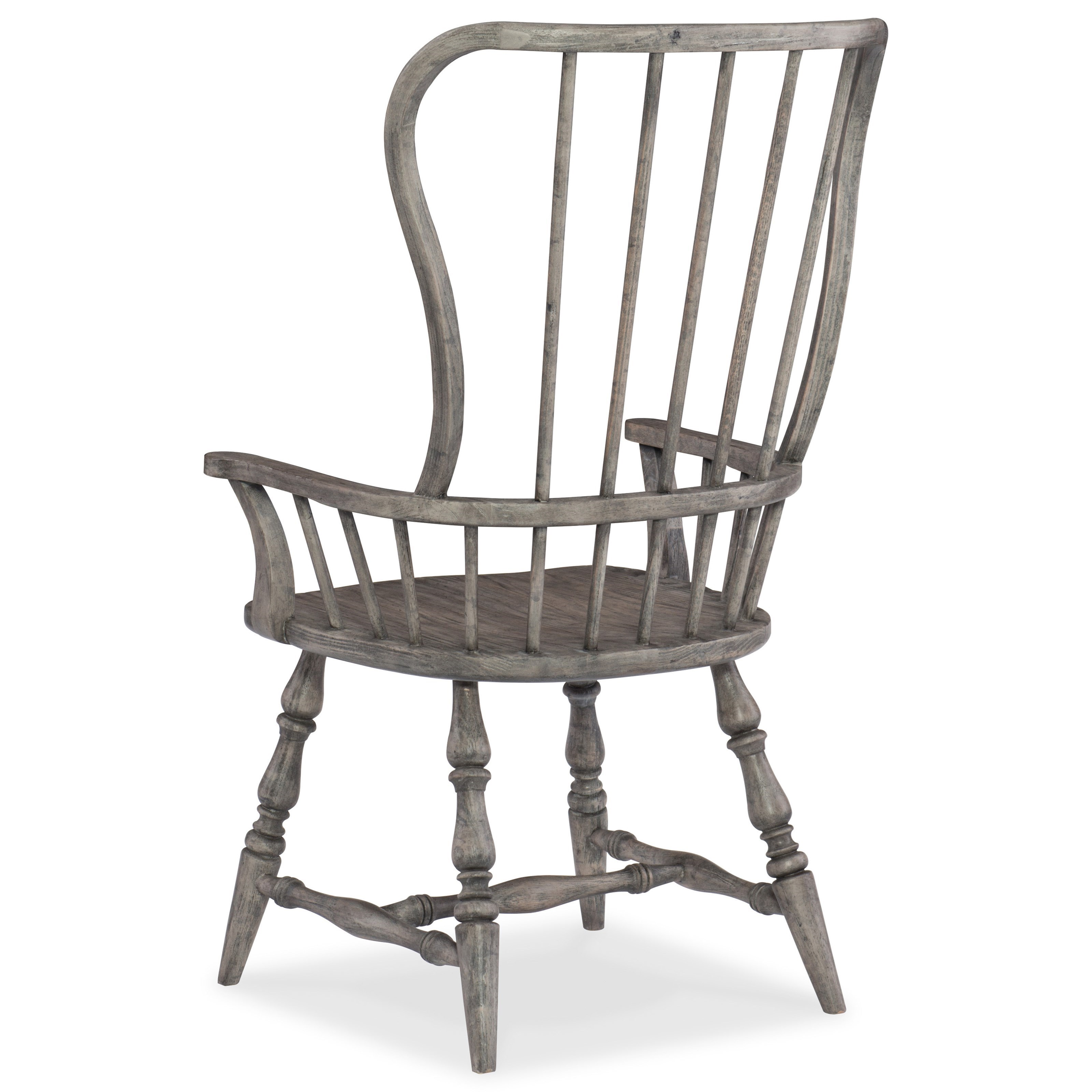 Hooker furniture sanctuary spindle back arm chair reeds