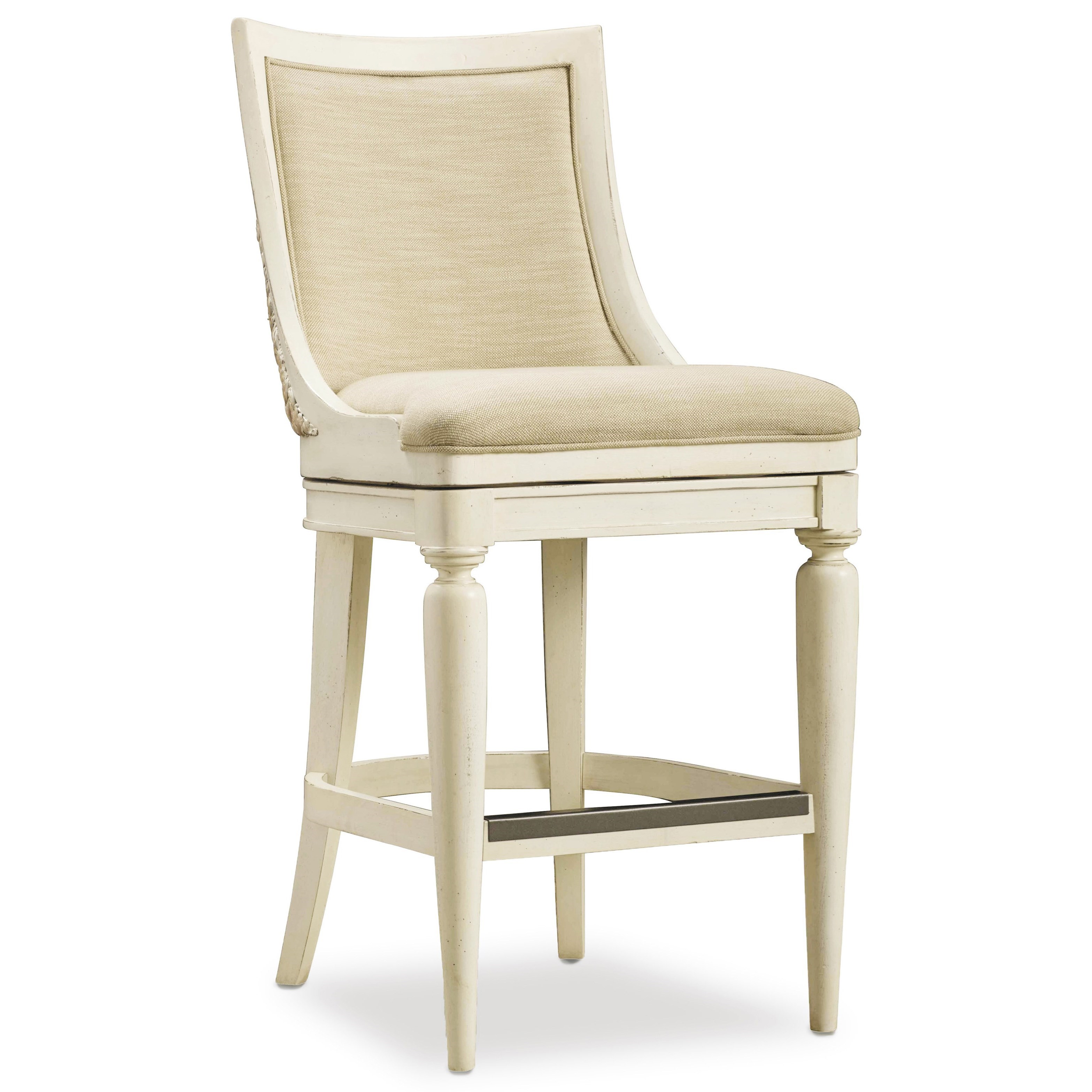 Hooker Furniture Sandcastle Barstool - Item Number: 5900-20360-WH