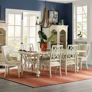Hooker Furniture Sandcastle 7 Piece Dining Set