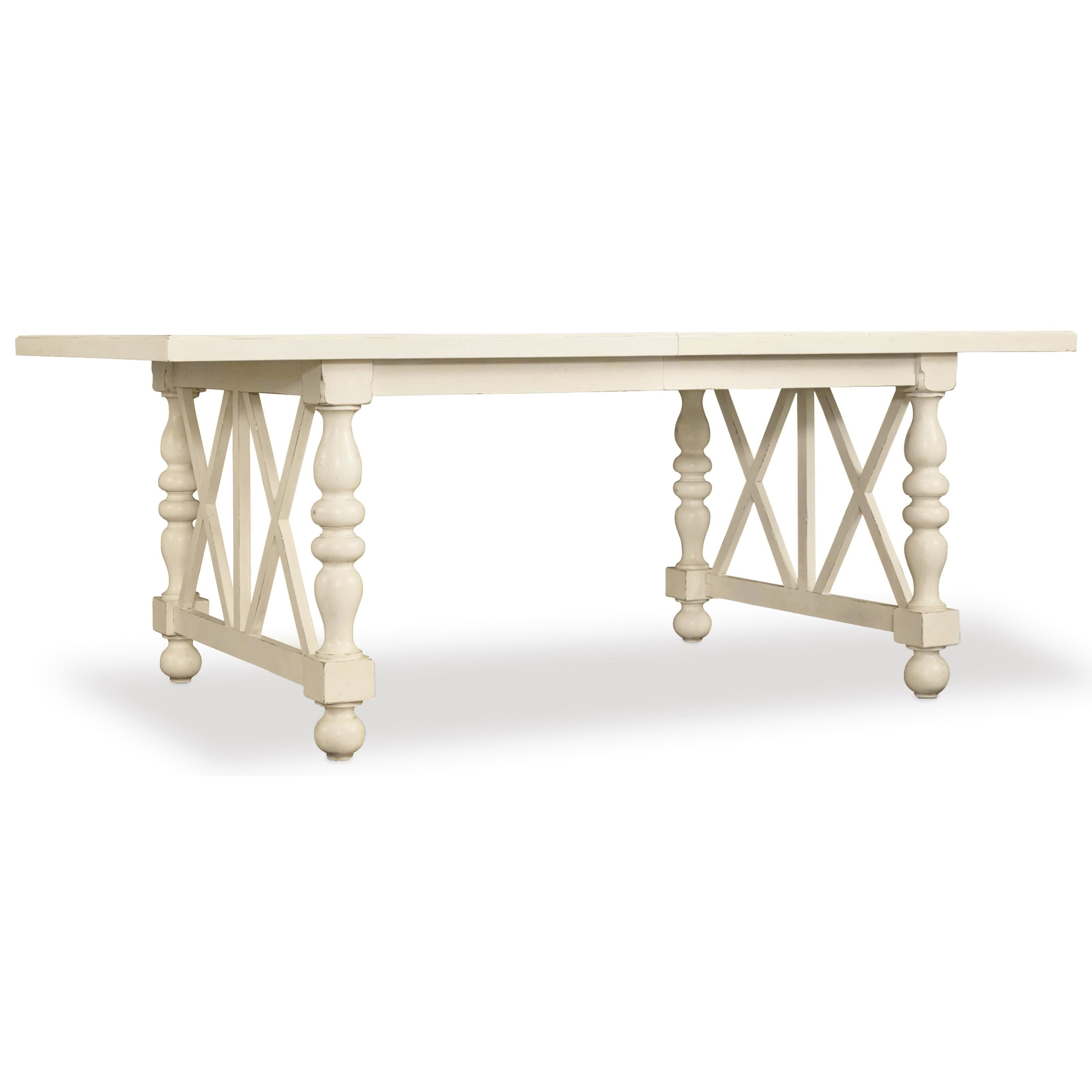 Hooker Furniture Sandcastle 80in Rectangle Dining Table - Item Number: 5900-75200-WH